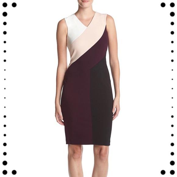 ca9f3eddd54c NWT Calvin Klein Colorblock dress
